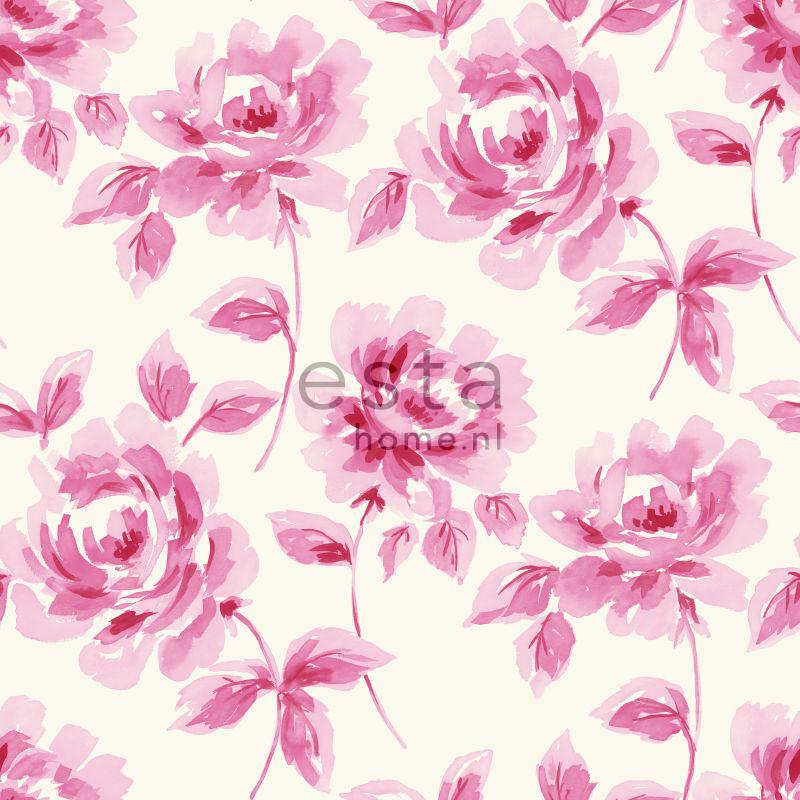 wallpaper watercolor painted roses