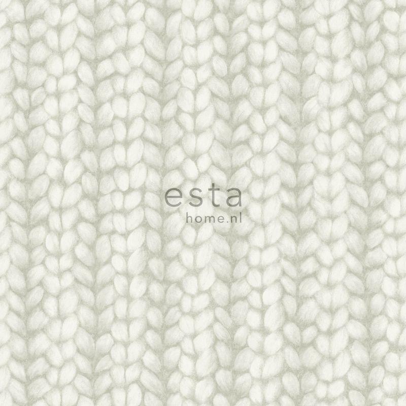 wallpaper knit light gray