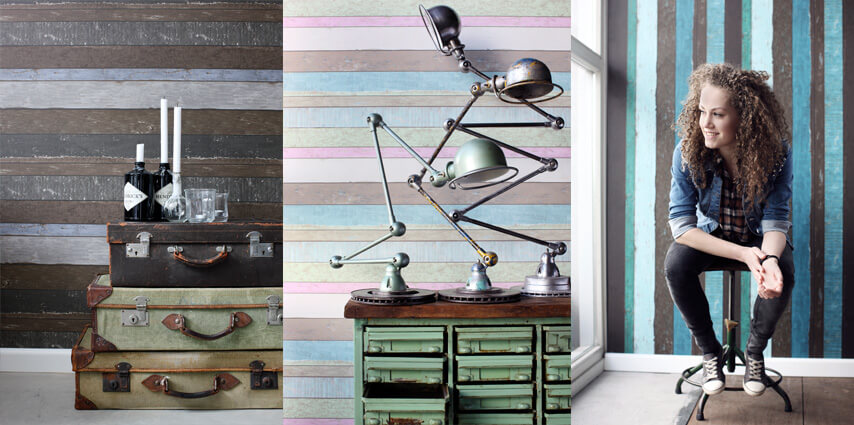 wood wallpaper ESTAhome.nl stripe effect