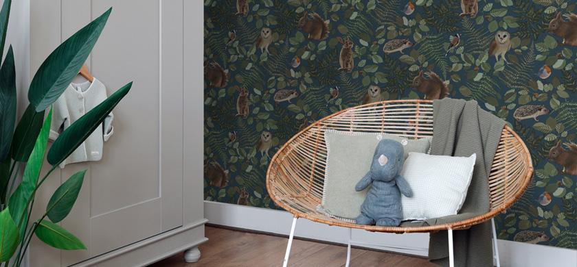 forest wallpaper kids' room