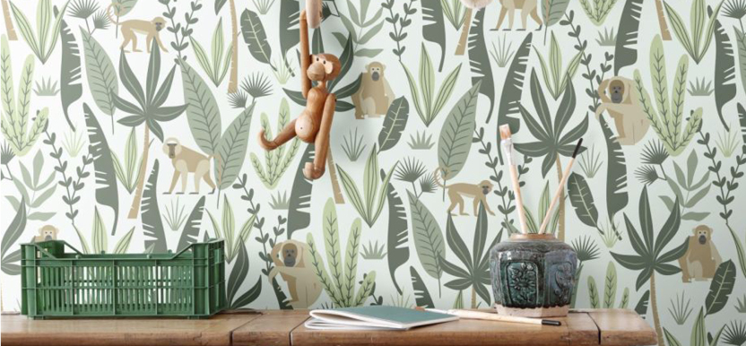 jungle wallpaper kids' room