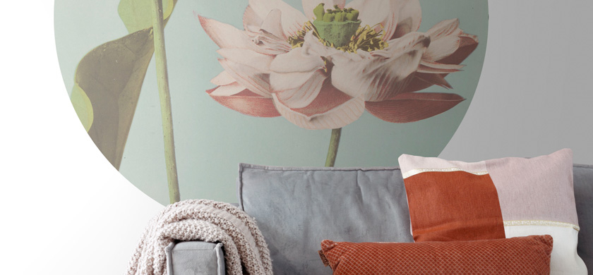 round wall mural