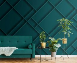 wall mural wall panelling teal
