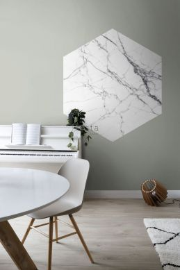 dining room wall sticker marble black and white 159026