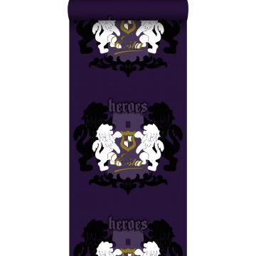 wallpaper lions purple