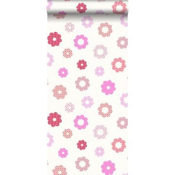 wallpaper lace pink