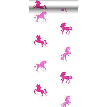 wallpaper horses pink