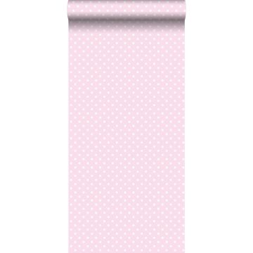 wallpaper dots soft pink and white