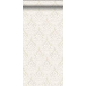 wallpaper baroque print beige