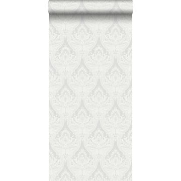 wallpaper baroque print gray