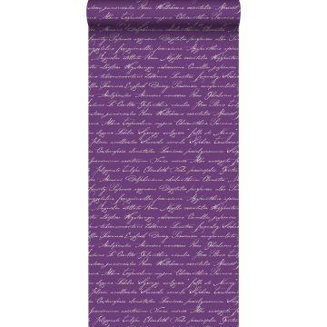 wallpaper handwritten Latin flower names dark purple