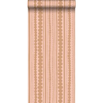 wallpaper beads peach pink and shiny copper brown