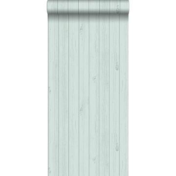 wallpaper wooden planks from reclaimed scrap wood mint green