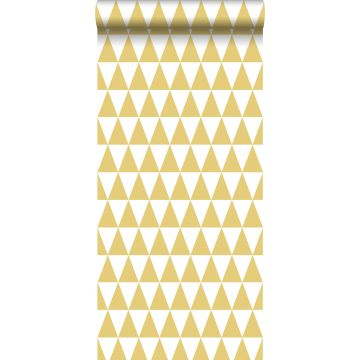 wallpaper graphical triangles mustard