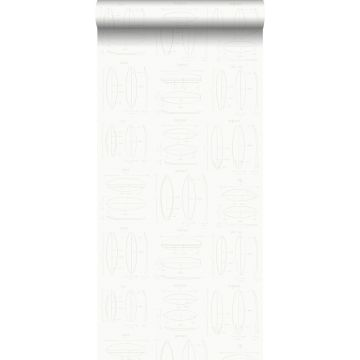 wallpaper technical drawings of surfboards white and silver