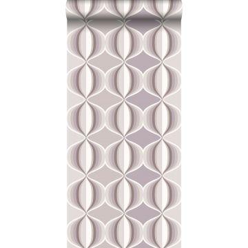 wallpaper retro motif taupe