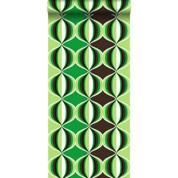 wallpaper retro motif green