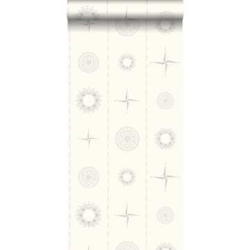 wallpaper wind roses silver