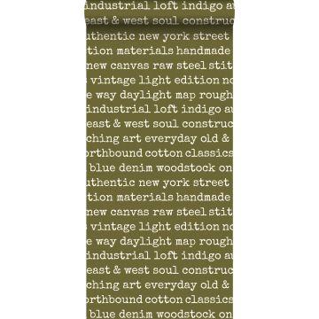 wallpaper city talk text olive green