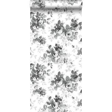 wallpaper roses black and white