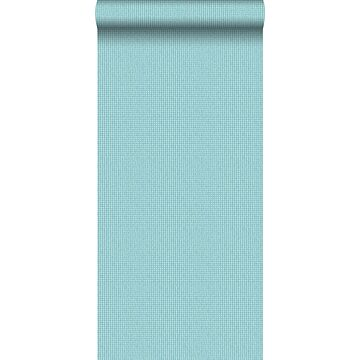 wallpaper embroidery turquoise