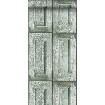 wallpaper panel doors teal