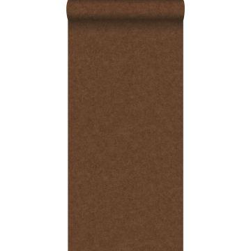 wallpaper plain concrete look rust brown