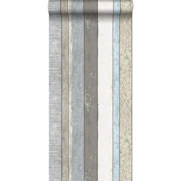 wallpaper wooden planks gray and light blue