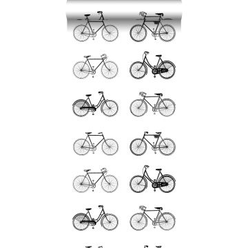 wallpaper bicycles white and black