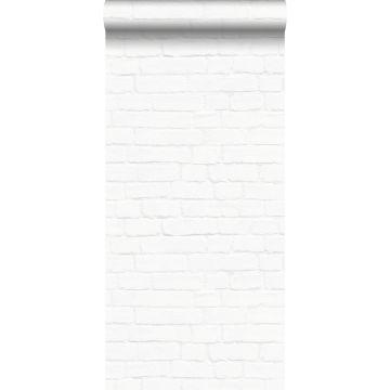 wallpaper brick wall white