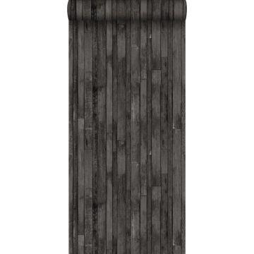 wallpaper scrap wood black