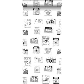 wallpaper polaroid cameras black and white