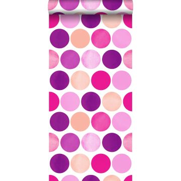 wallpaper large dots candy pink