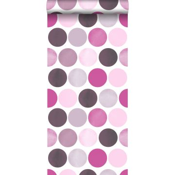 wallpaper large dots lilac purple