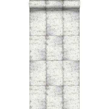 wallpaper zinc plates light warm gray