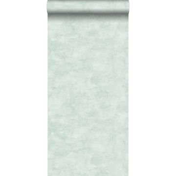 wallpaper concrete look light pastel mint green