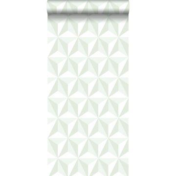 wallpaper graphic 3D mint green