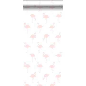 wallpaper flamingos light pink and white