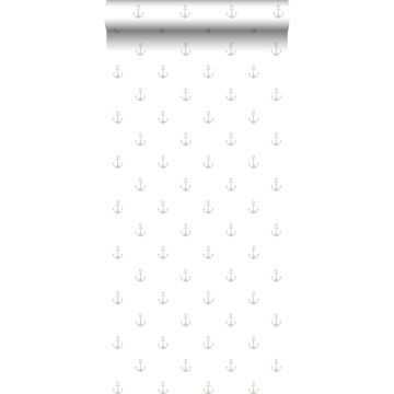 wallpaper anchors white and silver