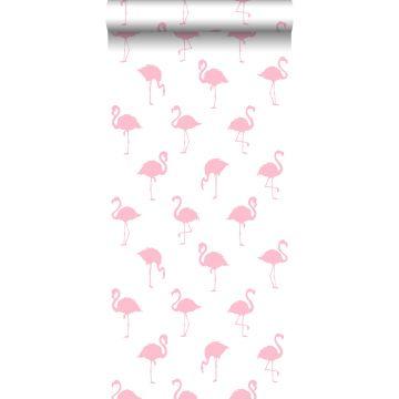wallpaper flamingos pink and white
