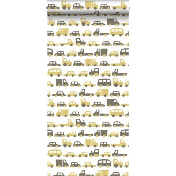 wallpaper cars mustard and brown