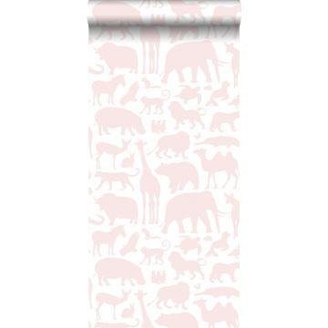 wallpaper animals soft pink
