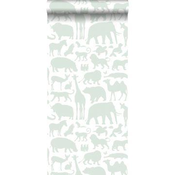 wallpaper animals mint green
