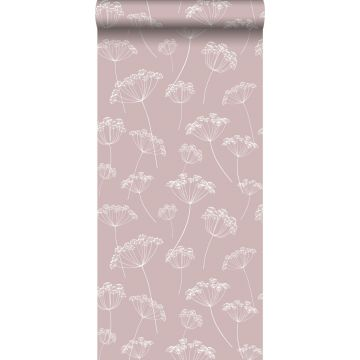 wallpaper umbels antique pink and white