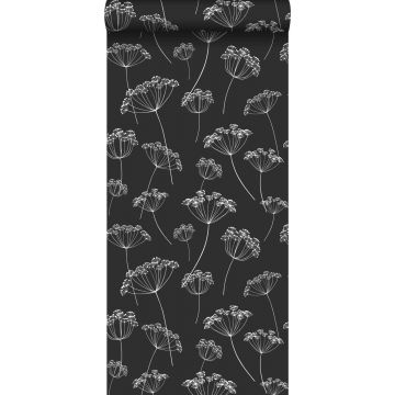 wallpaper umbels black and white