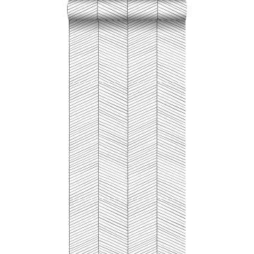 wallpaper herring bone pattern black and white