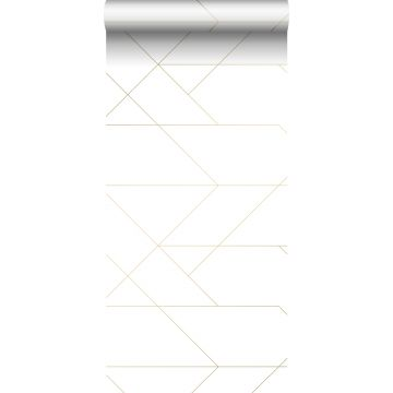 wallpaper graphic lines white and gold