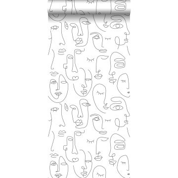 wallpaper faces black and white