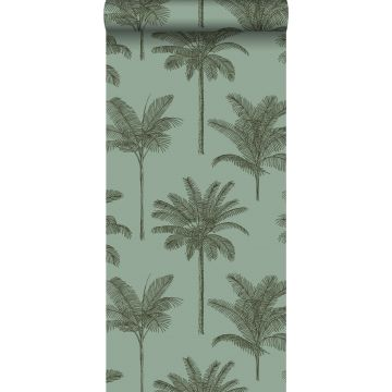 wallpaper palm trees grayish green
