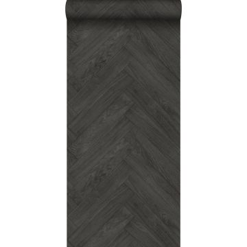 wallpaper wood effect dark gray